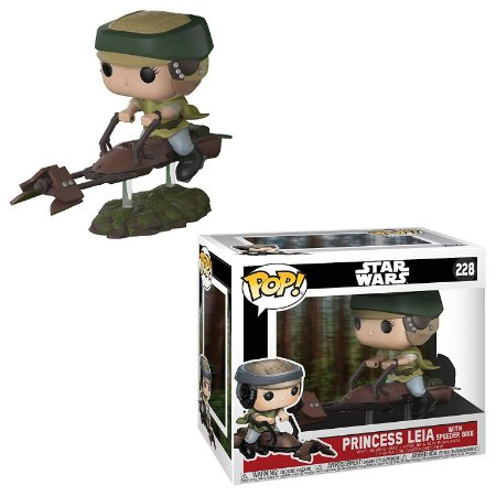 Funko Pop Star Wars 228 Leia On Speeder Bike