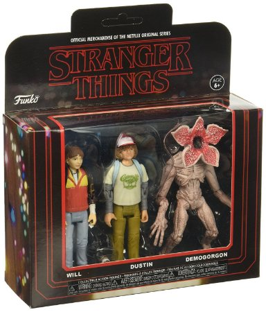 Funko Stranger Things 3 Pack: Will, Dustin e Demogorgon