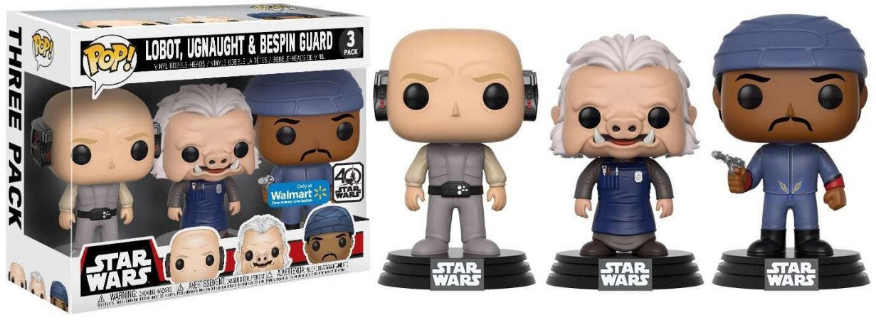 Funko Pop Star Wars 3 Pack: Lobot, Ugnaught & Bespin Guard
