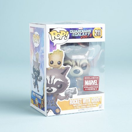Funko Pop Guardians of the Galaxy vol. 2 211 Rocket with Groot Exclusive