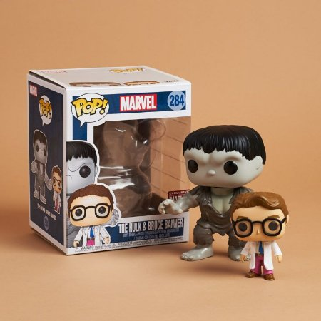 Funko Pop Marvel 284 The Hulk & Bruce Banner 2-pack Exclusive