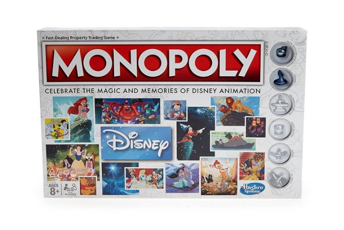 Monopoly Disney Animation Edition Game Hasbro