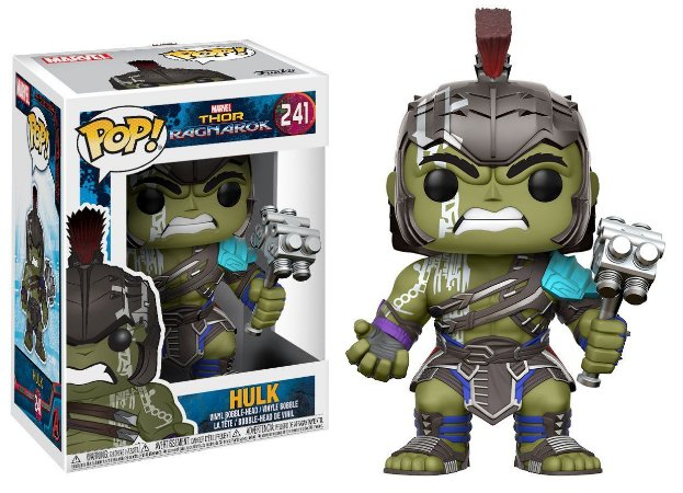 Funko Pop Marvel Thor Ragnarok 241 Hulk Helmeted Gladiator