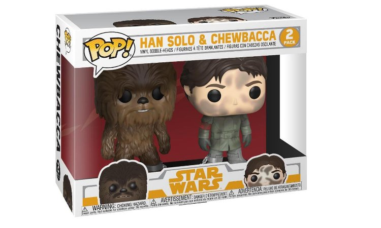 Funko Pop 2 Pack Han Solo e Chewbacca Exclusive