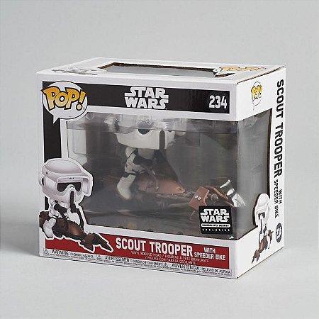 Funko Pop Star Wars 234 Scout Trooper with Speeder Bike