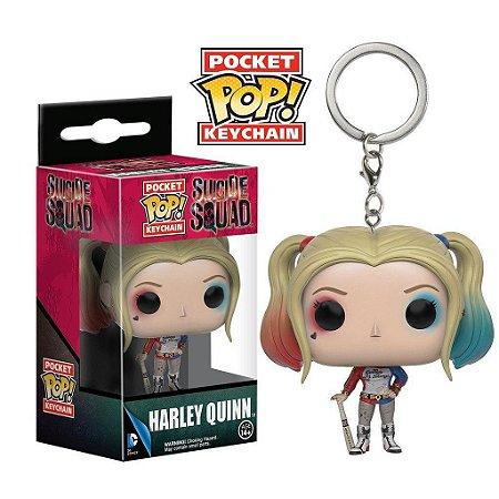 Chaveiro Funko Pocket Pop Harley Quinn Arlequina