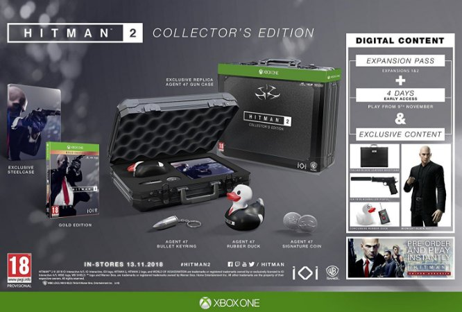 Hitman 2 Collectors Edition - Xbox One