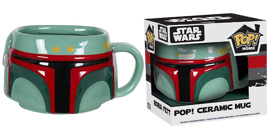 Funko Pop Caneca Star Wars Boba Fett Mug