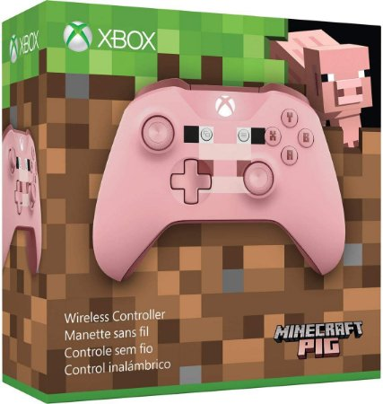 Controle Xbox One Wireless - Minecraft Pig