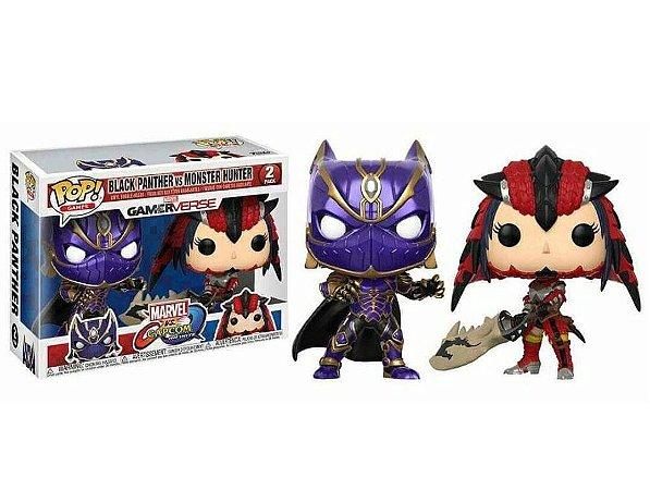 Funko Pop Marvel Vs Capcom Black Panther Vs Monster Hunter