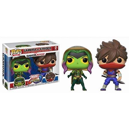 Funko Pop Marvel vs Capcom 2 Pack Gamora vs Strider