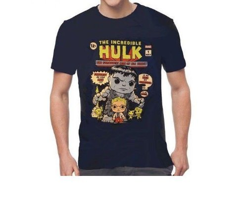 Camiseta Funko Pop Surpresa Star Wars ou Marvel ou DC Comics