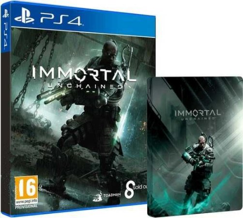 Immortal Unchained Steelcase + Exclusive Pack Itens - PS4