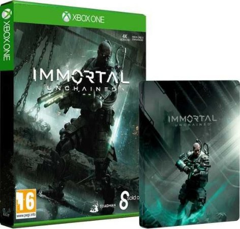Immortal Unchained Steelcase + Exclusive Pack Itens - Xbox One
