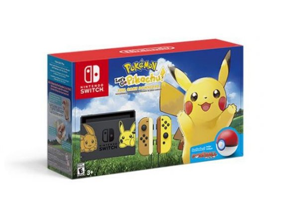 Console Nintendo Switch Pokemon Let's Go Pikachu Bundle