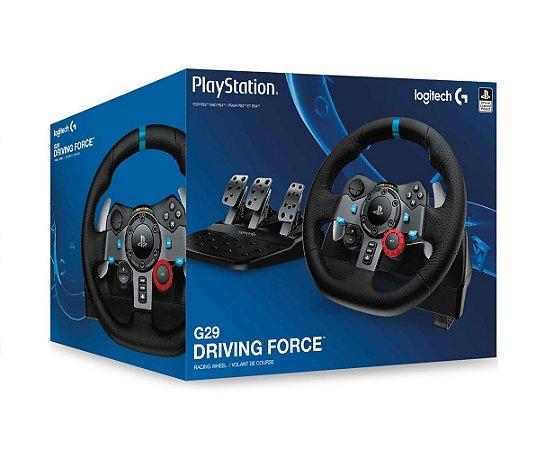 Volante c/ Pedais Logitech G29 Driving Force - PS4, PS3 e PC