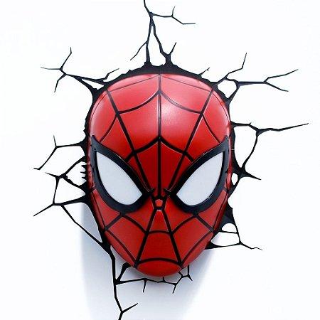 Luminária Máscara Homem Aranha Spider-man 3d Art Avengers