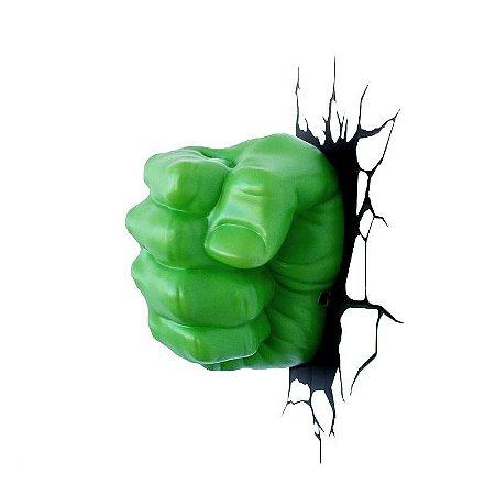 Luminária Punho Do Hulk 3d Light Fx Avengers