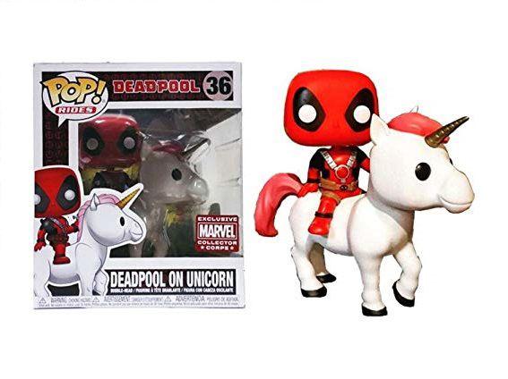 Funko Pop Marvel 36 Deadpool On Unicorn Exclusive