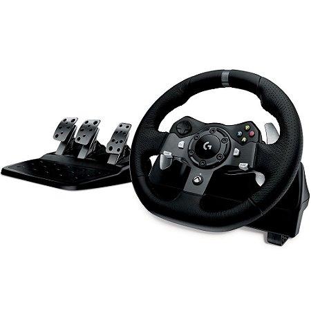 Volante c/ Pedais Logitech G920 Driving Force - Xbox One e PC