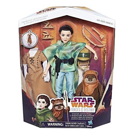 Star Wars Forces of Destiny Aventura Em Endor Leia