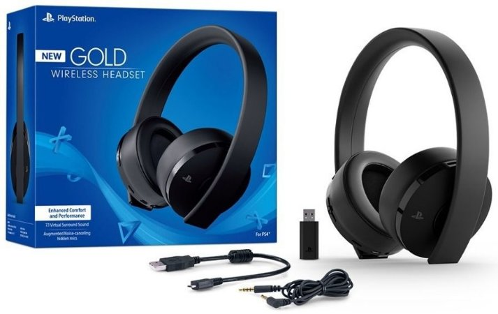 PlayStation Gold Ouro Wireless Headset 7.1 Surround - PS4