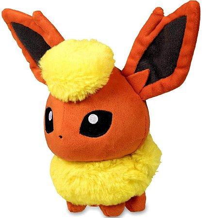 Pelúcia Pokemon Stuffed Poke Plush Flareon Booster