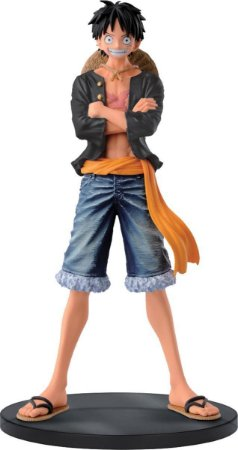 Figura One Piece Jeans Freak Vol.1 Luffy (Preto) - Bandai