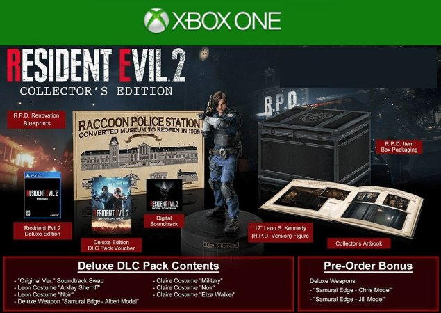 Resident Evil 2 Collectors Edition - Xbox One