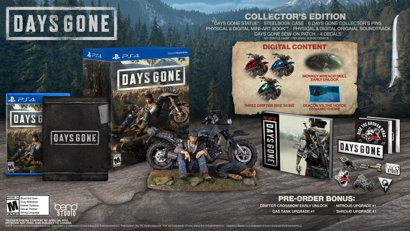 Days Gone Collectors Edition - PS4