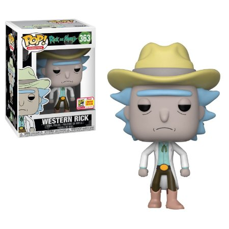 Funko Pop Rick and Morty 363 Western Rick Exclusive