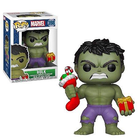 Funko Pop Marvel 398 Hulk Holiday with Stocking