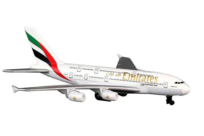 Miniatura Avião Daron Emirates A380 Rt9904 Escala 1/48
