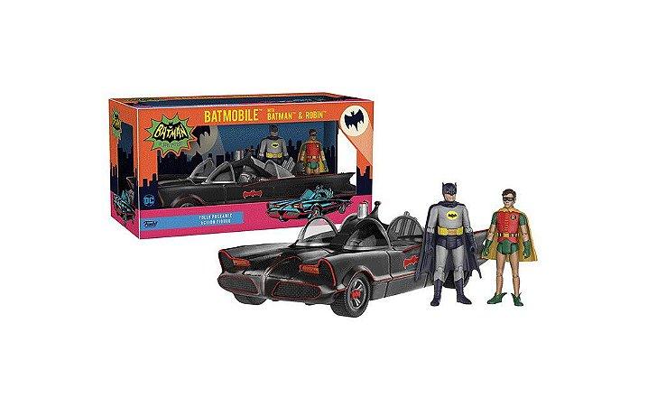 Funko DC Heroes 1966 Batmobile Veículo c/ Batman e Robin