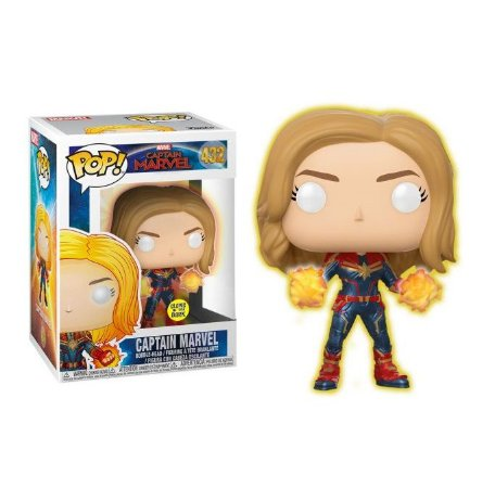 Funko Pop Captain Marvel 432 Glows In The Dark Exclusive