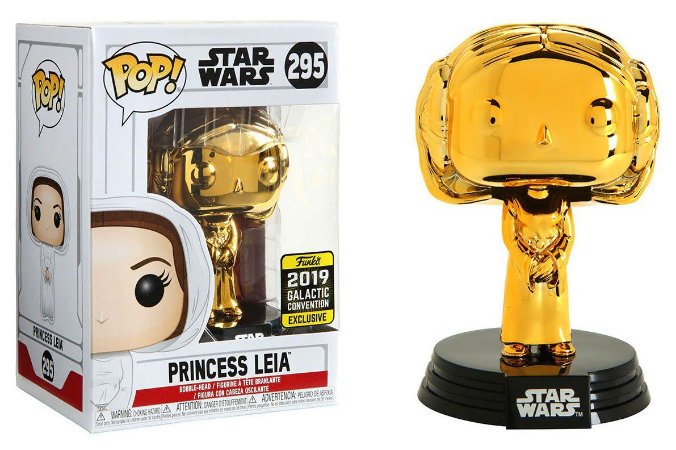 Funko Pop Star Wars 295 Princess Leia Gold Galactic Convention