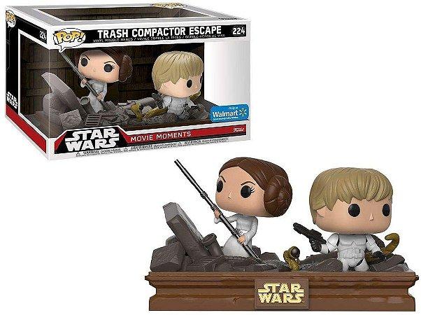 Funko Pop Star Wars 224 Luke and Leia Trash Compactor