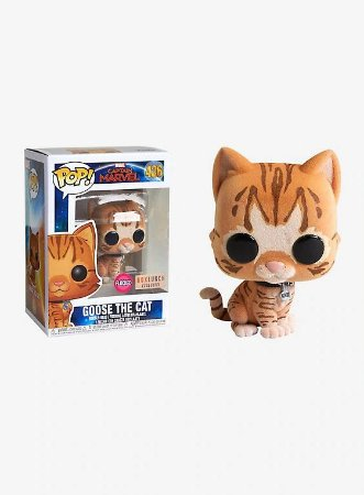 Funko Pop Captain Marvel 426 Goose The Cat Flocked Exclusive