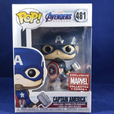 Funko Pop Marvel Endgame 481 Captain America w/ Mjolnir