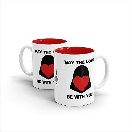 Caneca Mug Cerâmica Darth Vader May The Love