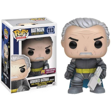 Funko Pop Batman 113 Armored Batman Unmasked Exclusive