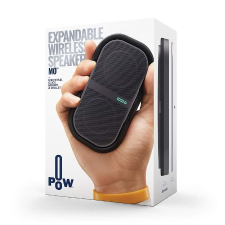 Speaker POW Mo Expandable Wireless + Universal Click Mount & Wallet