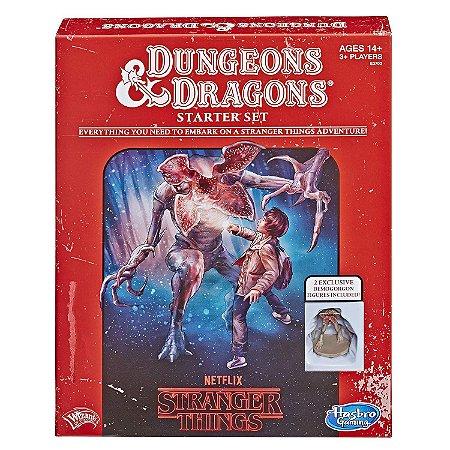 Stranger Things Dungeons & Dragons RPG Jogo de Tabuleiro Starter Set