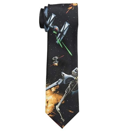 Gravata Star Wars New Space Battle Scene Tie