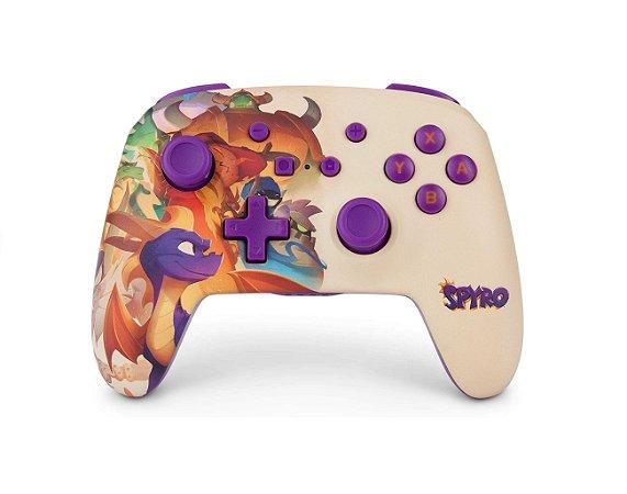 Controle PowerA Enhanced Wireless Spyro - Switch