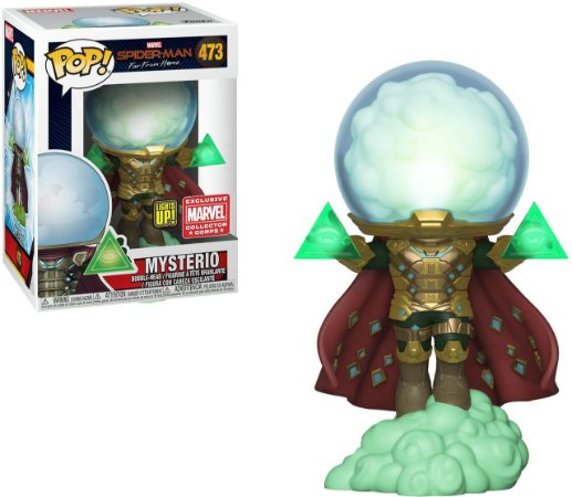 Funko Pop Spider-Man Far from Home 473 Mysterio Lights Up Exclusive