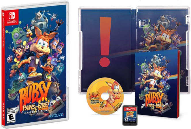 Bubsy Paws On Fire Limited Edition - Switch