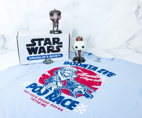 Funko Pop Star Wars Smugglers Bounty Pod Racer Collectors Box - S