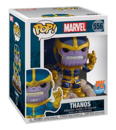 Funko Pop Marvel 556 Thanos Snap Deluxe 15cm Super Sized