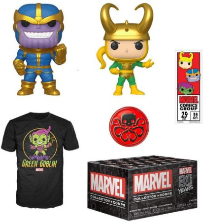 Funko Pop Collectors Box Marvel 80th Thanos + Loki - XL